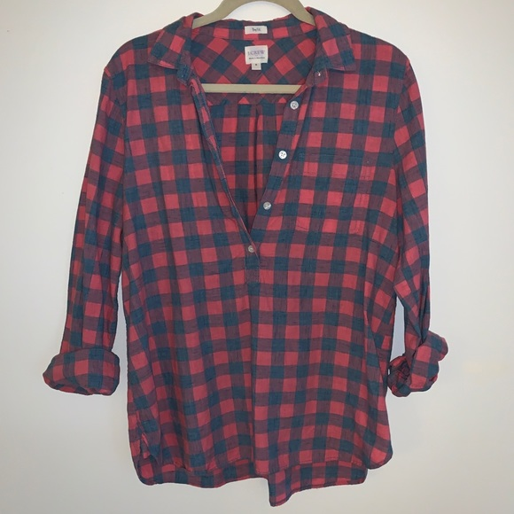 J. Crew Tops - J crew popover button down